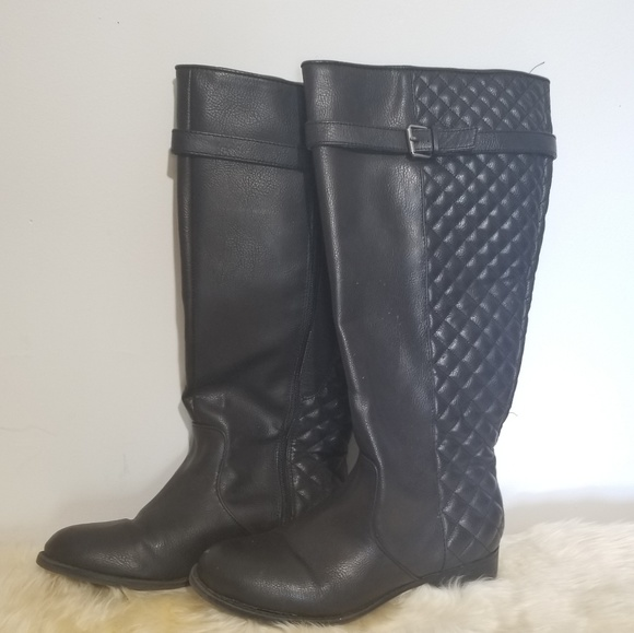 9 Wide Womens Tall Brown Black Boots